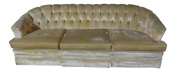 Sofas At Sears by Mid Century Modern Off White Velvet Tufted Sofa Couch By Sears