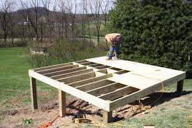 Floor Joist Span Table For Sheds by How To Build A Shed Floor And Shed Foundation Building Porches