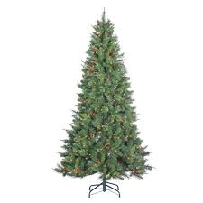 Sears Artificial Christmas Tree Stand by Ge 9 Ft Indoor Pre Lit Led Energy Smart Spruce Artificial