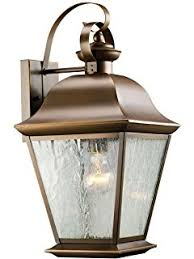 kichler 9708oz one light outdoor wall mount wall porch lights