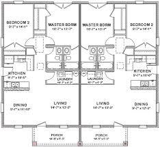 Duplex House Plans Full Floor Plan 2 Bed Bath