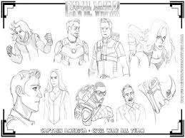 Captain America Civil War All Team Coloring Pages