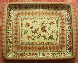 Daher Decorated Ware 11101 by Vintage Daher Decorated Ware 11101 Tin Tray Floral Rectangle 7 75