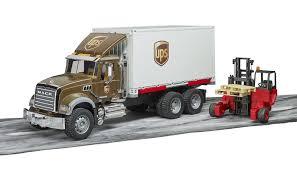100 Ups Truck Toy Bruder S Mack Granite UPS Logistics W Mobile Forklift