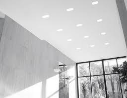 spot encastrable au plafond halogène carré en plâtre tiqal