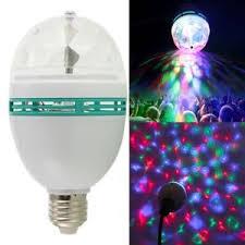 3w e27 rgb magic rotating led stage light bulb