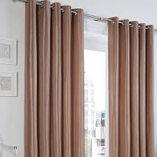 Faux Silk Eyelet Curtains by Luxury Interlined Faux Silk Eyelet Curtains Mocha Eyelet