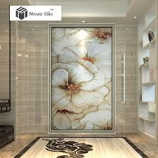 tst mosaic murals beautiful big white flower home hotel wall deco