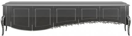 casa padrino luxus barock tv schrank schwarz silber 217 x 54 x h 58 cm fernsehschrank mit 5 türen edle barock wohnzimmer möbel