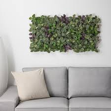 fejka kunstpflanze zur wandmontage drinnen draußen grün lila 26x26 cm