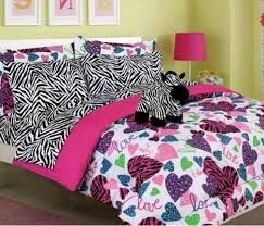 Love Pink Bedding by Amazon Com Girls Kids Bedding Misty Zebra Bed In A Bag
