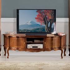 nussbaum furnier wohnwand barock dentro 325cm breit 3 teilig