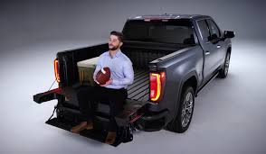 The 2019 GMC Sierra 1500's Tailgate Is Pretty Darn Ingenious - SlashGear Best Steps Save Your Knees Climbing In Truck Bed Welcome To Replacing A Tailgate On Ford F150 16 042014 65ft Bed Dualliner Liner Without Factory 3 Reasons The Equals Family Fashion And Fun Local Mom Livingstep Truck Step Youtube Gm Patents Large Folddown Is It Too Complex Or Ez Step Tailgate 12 Ton Cargo Unloader Inside Latest And Most Heated Battle In Pickup Trucks Multipro By Gmc Quirk Cars Bedstep Amp Research