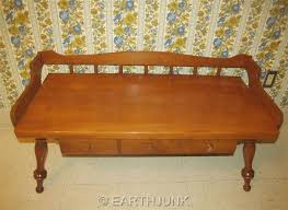 Ethan Allen Maple Dry Sink by Ethan Allen Baumritter Coffee Table Bench Colonial Creations Thick