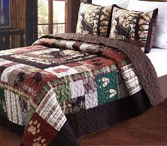 Amazon Greenland Home 3 Piece Whitetail Lodge Quilt Set Full