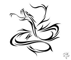 Tribal Chinese Dragon Tattoo Sample