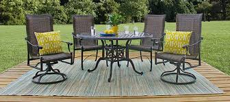 Gensun Patio Furniture Cushions by 5 Piece Woven Cast Aluminum Patio Dining Set By Gensun Casual Living
