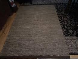 teppich beige braun 140 x 200cm handgewebt naturfaser