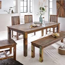 finebuy esszimmertisch kalkutta 180 x 90 x 76 cm massivholz esstisch für 6 8 personen großer küchentisch bootsholz shabby chic tisch esszimmer