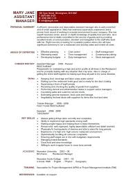 Sample Resume For Restaurant Store Manager Feat Assistant 6 Make Awesome