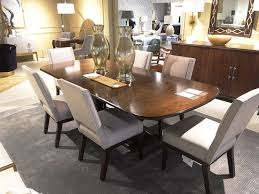 6 Ottawa Dining Room Furniture Haven Table In Brunette Finish As Shown On Display