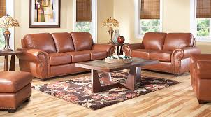 balencia light brown leather 5 pc living room leather living