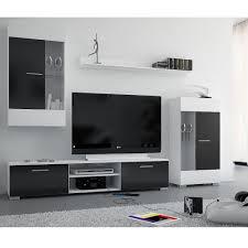 ensemble meuble tv bravo noir blanc prix promo la maison de