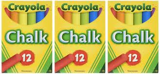 Amazon.com: Crayola Chalk, Assorted Colors, 12 Sticks Per Box ...
