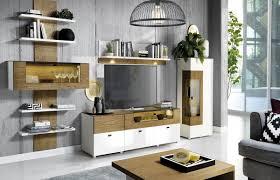 casa padrino tv schrank braun weiß 180 x 48 x h 55 cm beleuchteter massivholz fernsehschrank mit schubladen moderne wohnzimmer möbel