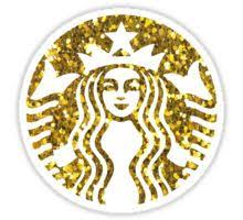 Gold Glitter Starbucks Sticker