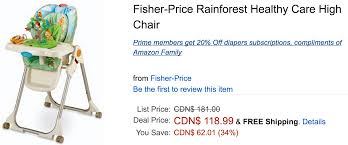 Amazon Canada Deals Of The Day: 34% On Fisher-Price High ... Multicolor Fisherprice Space Saver High Chair Highchairs Peg Perego Siesta Adjustable High Chair Ice Grey Healthy Care In Gerrards Cross Amazoncom Replacement Hdware Bag For Use With Fisher Height Adjustable Foldable Baby Bay0224tq Portable And Booster Mulfunction Ocean Wonders Cocoon Highchair Prices Demand Metroarea Health Care Premium Shopping Cart Cover Pillows Cushions Blue Truck Us 12999 40 Offlangria Aca071 Back Leather Office Computer Gaming With Footrest 360 Degree Swivel Health Homein