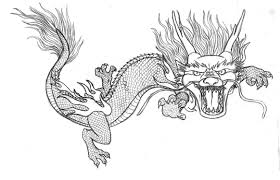 Chinese Dragon Adult Coloring Pages Printable