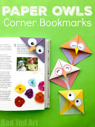 Easy Owl Origami Bookmarks