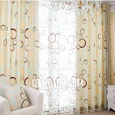 trendy circle cotton curtains for living room with energy saving