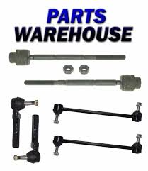 100 2011 Malibu Parts 6Pc New Sway Bar Tie Rod End Set Chevy Pontiac G6Saturn