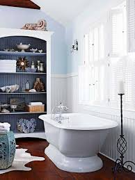 Nautical Bathroom Ideas With Pale Blue And Wainscoting And Open ... Faux Wascoting Wallpaper Amazing Surprising Diy Bathroom Designs Ideas Small With White Beadboard Colored Also Awesome Ideas Bathroom Youtube Pating Unique Country Design French Porcelain Bathtub And Subway Tcworksorg Photo Page Hgtv Farmhouse Wood Wascotting With Wascoting Height In Good What It Is How To Use Pictures Of Remodeled Bathrooms Creative Delightful Green Color