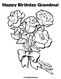 Happy Birthday Grandma Coloring Page