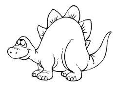 Funny Stegosaurus Dinosaur Cartoon Coloring Pages For Kids Printable Free