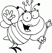 Download Coloring Pages Bee Page Free Printable Bumble For Kids