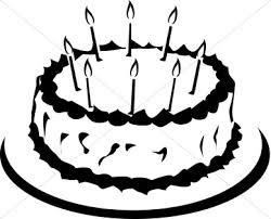 Birthday black and white birthday cake black and white clipart