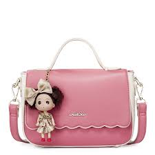 Barbie Girl Early Spring Series Candy Color Handbag Red