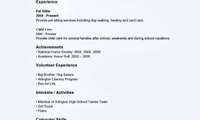Sample Resume Template Word Teenager Cover Letter