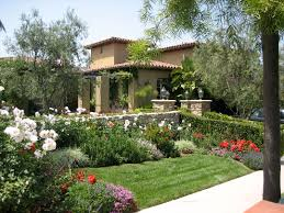 Outstanding Image Of Tuscan Garden Decor For Home Exterior Design And Decoration