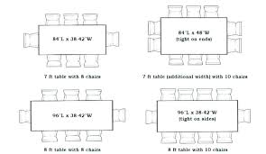 Standard Dining Table Sizes Typical Dimensions Size Metric And Exciting