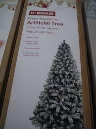 7ft Christmas Tree Uk by Homebase Green Snow Storm Artificial Tree Approx 7ft High Boxed