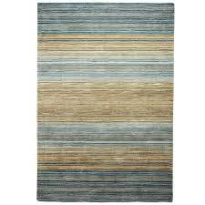 Graduated Stripe Coastal Blue Rug