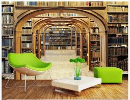 custom photo wallpaper 3d wall mural wallpaper fashion library shelves 3 d background wall paintings for living room decoration