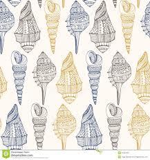 100 Sea Shell Design Shell Mless Pattern Stock Illustration Illustration Of Icon