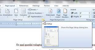 Click The Page Setup Button