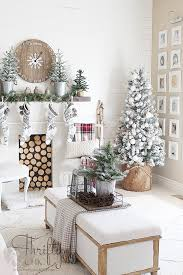 Farmhouse Christmas Decor And Decorating Ideas White Red Fixer Upper Style
